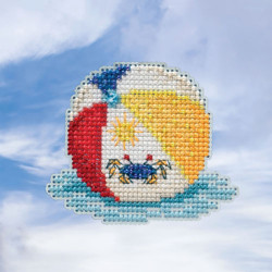Beach Ball cross stitch/beading kit